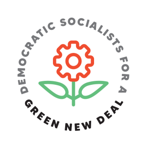 Rose cog for Democratic Socialists for a green new deal campaign for Pro Act site