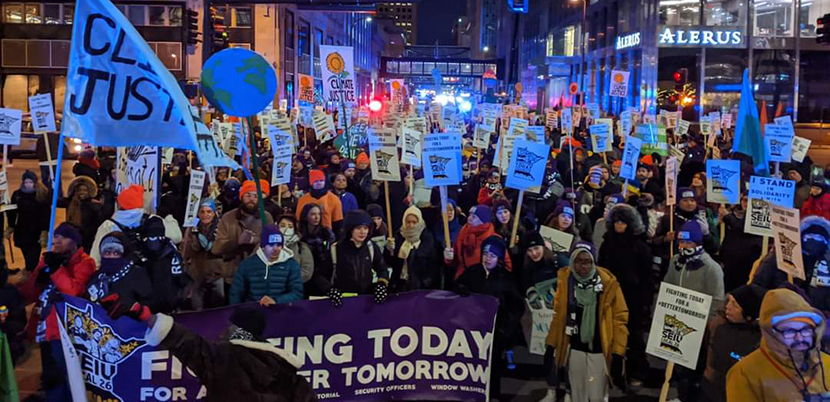 Janitor Strike for wages and the climate